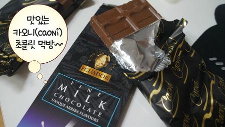 맛있는 초콜릿추천 ::: 카오니(caoni)초콜릿 진짜 맛남!!!