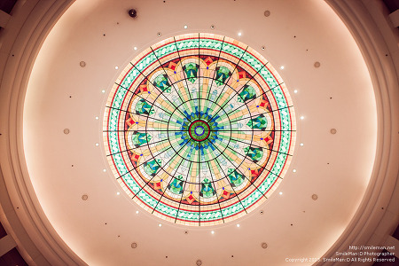 Ceiling dome in Harbour City Mall, Kowloon
