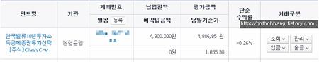 한국밸류10년투자소득공제 펀드 투자 후기(2019.07)