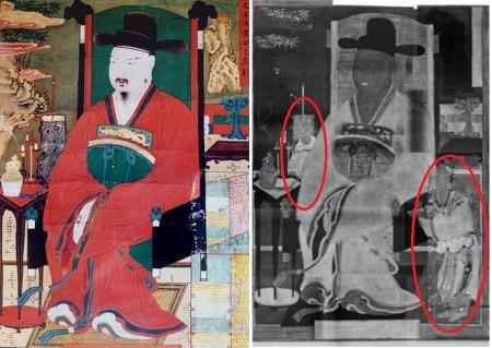 최치원 초상화 속 '숨은그림'…두 동자승은 누가 왜 지워졌을까
