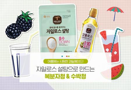 시원•상큼 DIY 과일에이드!  삼양그룹 큐원 자일로스 설탕으로 복분자청&수박청 만들기