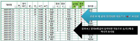 2020 K리그2 일정 정리 [엑셀 파일 정리]