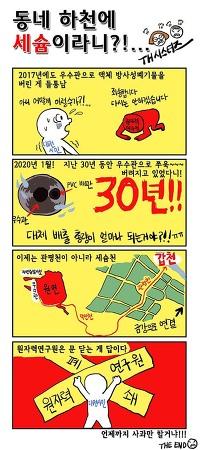 [만화] 동네 하천에 세슘이라니?!