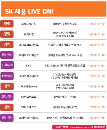 SK그룹 11월3주차 채용 소식