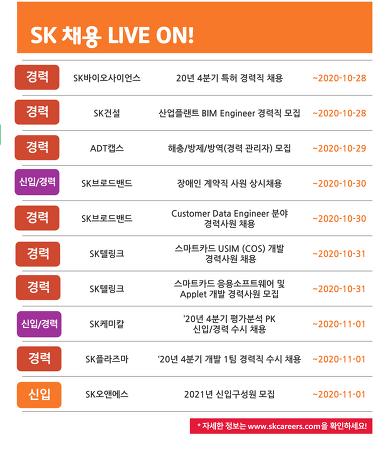SK그룹 채용 10월 4주차