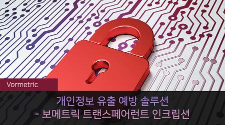 개인정보 유출 예방 솔루션 - 보메트릭 트랜스페어런트 인크립션 Vormetric Transparent Encryption