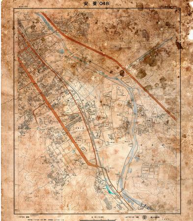 [안양권지도]1976년 안양시(현 만안구 지역) 지도