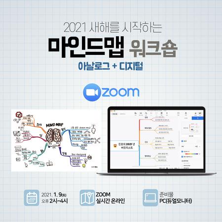 [모집] 2021년 새해를 시작하는 마인드맵 워크숍 - 2021.1.9(토) 2시