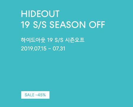 하이드아웃 19 S/S 시즌오프 최대 45% 세일