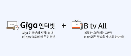 SK브로드밴드 Giga 인터넷, B tv 요금제 Best Plan 추천
