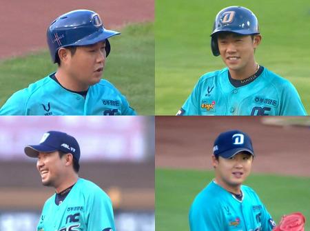 20.08.09. 최성영 시즌 2승 + 양의지 홈런.gif