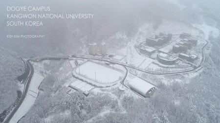 [ 4K drone ] Snowy Dogye Campus, Kangwon National University, Korea / 눈 내리는 강원대학교 도계캠퍼스 4K 드론 영상