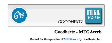 Goodhertz - Megaverb Pt1