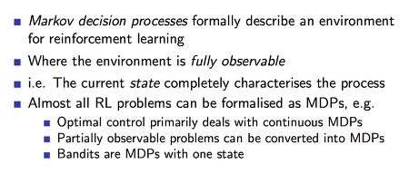 RL (강화학습) 기초 - 3. Markov Decision Processes (1)