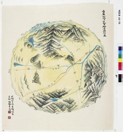 [안양권지도]군포안양의왕 산수여지도(박찬응. 2919)