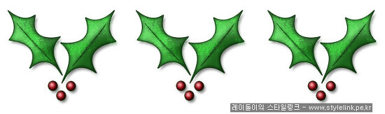 크리스마스 트리용 2탄~ 열매꽃장식 포토샵으로 만들어 보자~!!