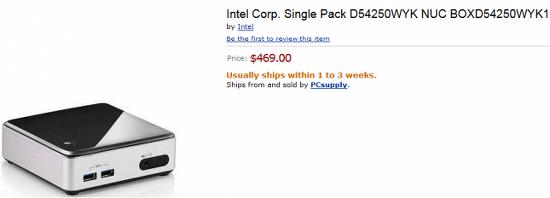 [인텔] 하스웰 기반 NUC KIT D54250WYK, 예약 판매 시작!