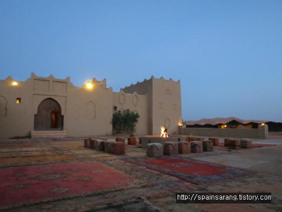 사하라사막(에르그 쉐비) 텐트숙박 아침일출