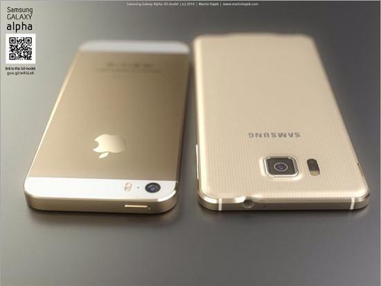 아이폰6 갤럭시알파 비교사진