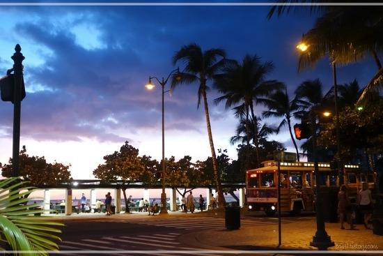 [하와이 오아후, 호놀룰루] 와이키키해변에 있는 버거집에서 석양보며 식사하기, 하와이 3대 버거 중 하나라는 맛집 <치즈버거 인 파라다이스(Cheeseburger in Paradise)>
