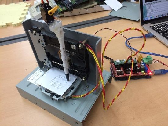 CD-ROM 드라이브 뜯어서 플로터 만들기