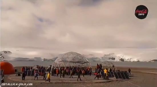 탈리카, 남극 안타르크티카 공연
