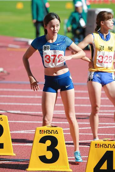대한민국 여자 육상의 자존심 여자 100m 허들 정혜림 선수 제100회 전국체육대회