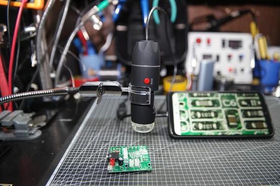 저가형 1600배율 USB 전자 확대경(루뻬, 현미경) 간단 리뷰와 거치대 개조