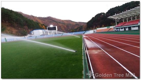 태백 종합경기장 천연잔디 관수시설