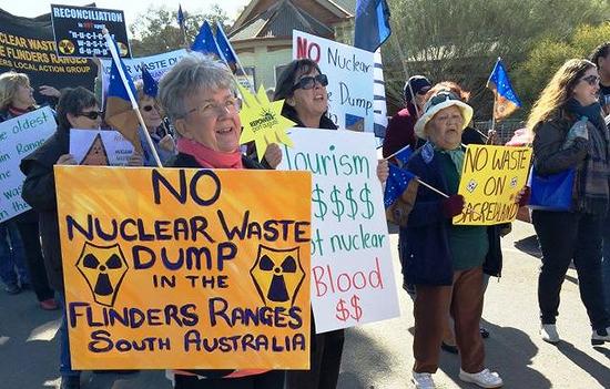 호주 플린더스 산맥에 핵폐기 안 돼!
