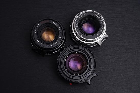 [名玉熱戰 / Comparison] Light Lens Lab CHINA 35mm f2 8ELEMENT V1LC & Summicron 35mm F2 V1 & V4