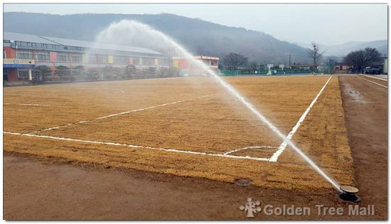 공주 경천중학교 천연잔디 운동장 관수시설