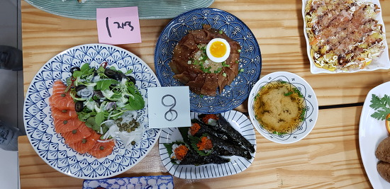 엔가와 초밥/연어샐러드 일식대첩-차슈덮밥 참치마끼