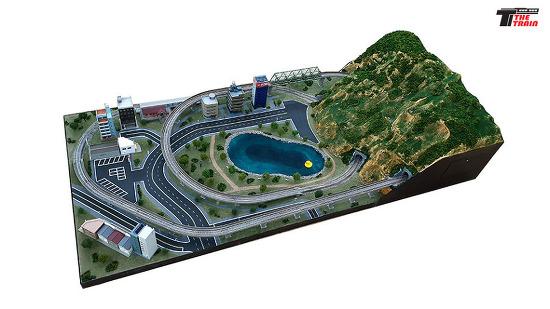 """더트레인 """"작은도시 풍경"""" 철도모형 디오라마"""