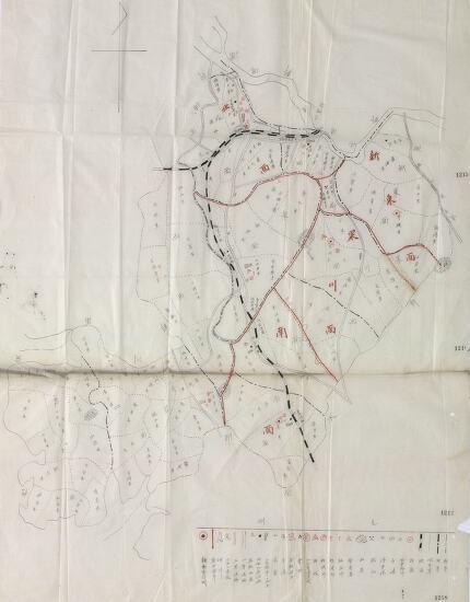 [안양권지도]1910년 당시 시흥군지도(수기)