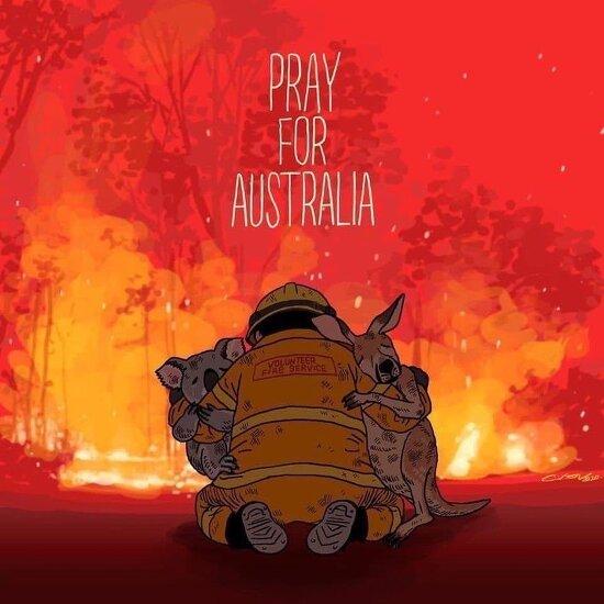 호주 산불이 빠르게 진압되기를 기원합니다.