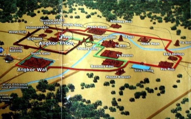 캄보디아여행 앙코르톰으로(1) - 앙코르톰남문