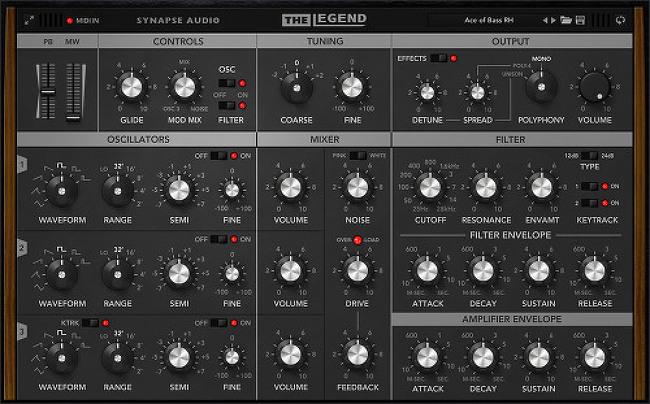 Synapse Audio의 The Legend VSTI