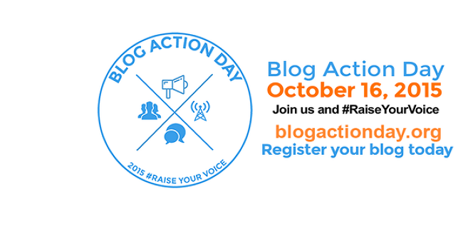 Blog Action Day 2015 raiseyourvoice