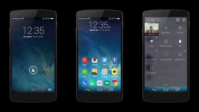 Nexus 5 with Flat Theme & Flat Module