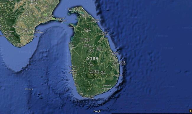 스리랑카 지도 자세히 살펴보기 (스리랑카 위치 실론섬 구글맵 위성도 지형도 행정도 구글어스 지역구분 도로지도 여행지도 한글판 한글지도)