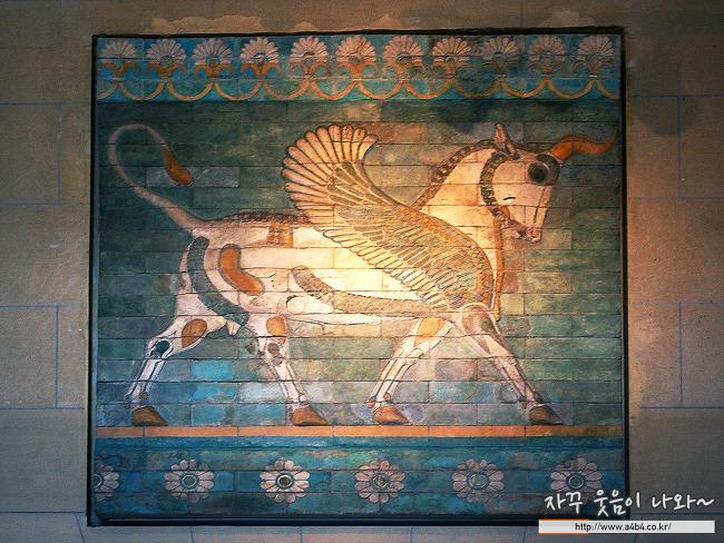 루브르 박물관 고대 근동 : 코르사바드 궁전 & 바빌론의 채색벽화 메소포타미아 문명