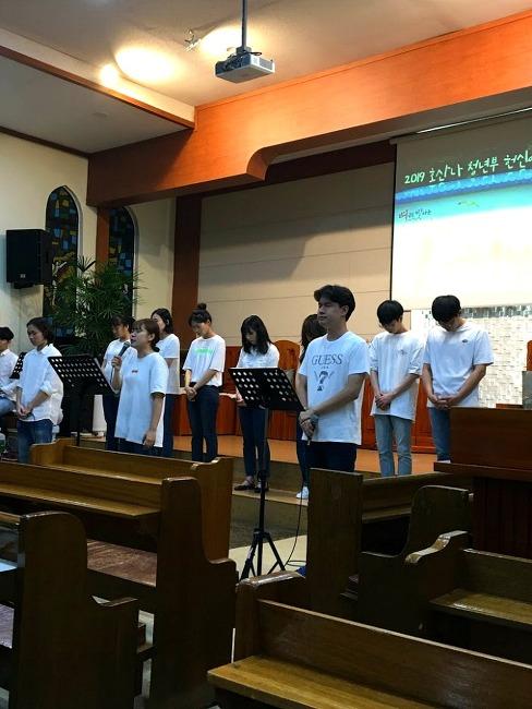 12월 성탄절을 앞둔 청년부 예배 청년 대표 기도문