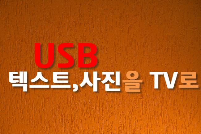 USB에 저장된 텍스트와 사진을 TV로 보기