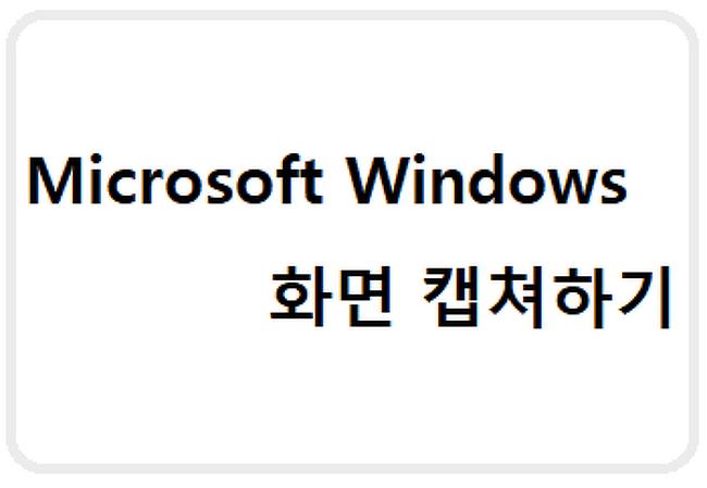 Windows - 스크린샷 찍는 법