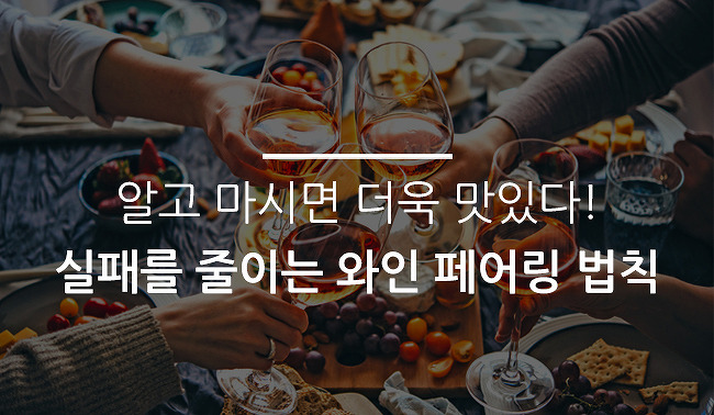 알고 마시면 더욱 맛있다! 실패를 줄이는 와인 페어링 법칙(Feat. 와인 추천)
