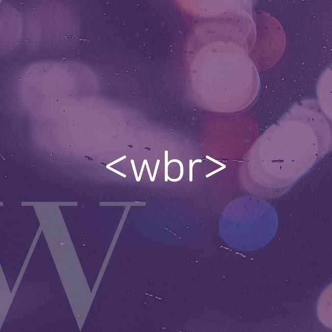 [HTML] <wbr>