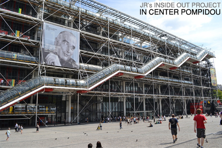 JR's INSIDE OUT PROJECT IN CENTER POMPIDOU