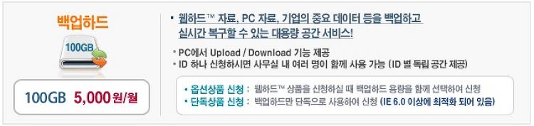 기업을 위한 웹하드 서비스! 'LG U+ 백업하드'