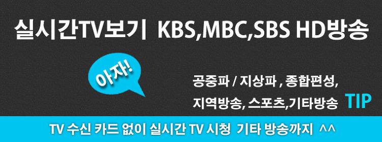 실시간TV보기 KBS, MBC, SBS 공중파/지상파 HD방송 실시간TV보기